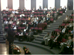 Rodrigo Salas at the Ordinary Session of the Mexican Academy of Faculties of Medicine
