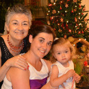 Piga Fernandez Christmas 2013, with Caro, my daughter, and Paz
