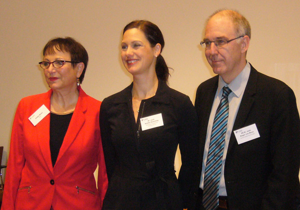 From left to right: Helga Meier, Anette Duensing, and Roger von Moos