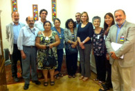 Representatives of patient organizations with Senator Goic