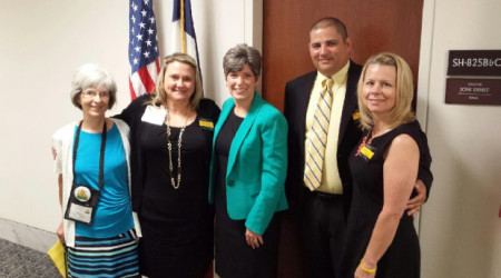 Teena's group with Senator Joni Ernst