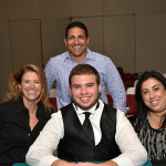 Winners from left to right: Aileen Broner, Ramy Saad (standing), and Donna Dicrescento with the night's final dealer.
