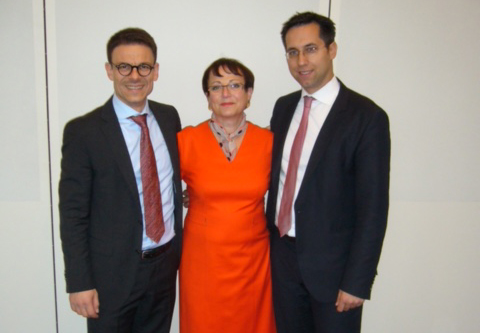From left to right: Dr. Michael Montemurro, Helga Meier, and Dr. Sebastian Bauer.