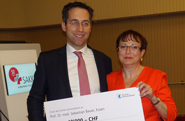 LRG research team member, Dr. Sebastian Bauer recently received the 6th Annual Science Prize awarded by the GIST Group Switzerland