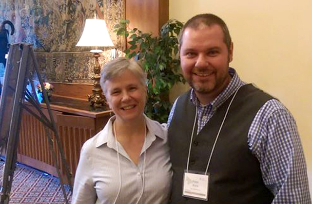 LRG's Pete Knox with Sharon Terry, President of Genetic Alliance at the recently held event in Chapel Hill.