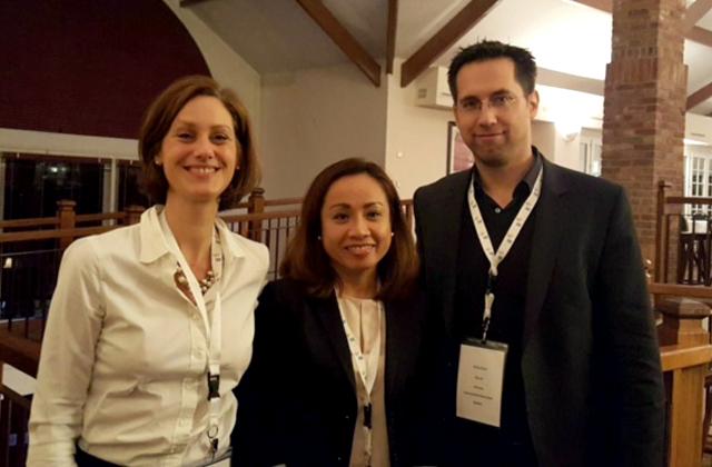 Dr. Anette Duensing, Michelle Durborow, and Dr. Sebastian Bauer