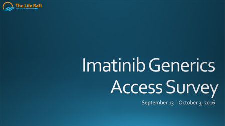 Imatinib Generics Access Survey