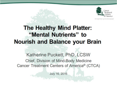 "The Healthy Mind Platter: ""Mental Nutrients"" to Nourish and Balance your Brain Katherine Puckett, PhD"