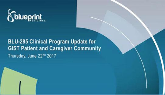 GIST Patient Community Update on BLU-285 Clinical Program