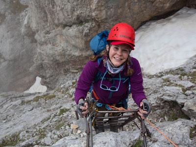 Liz Skree Climbing