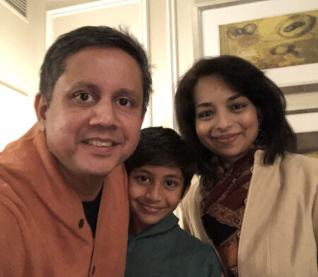 Fatema Suterwala and her family