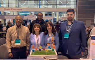 The LRG's booth at ASCO 2019