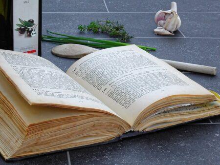 Photo of an open cookbook