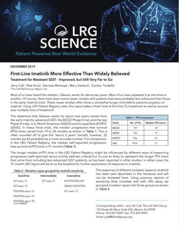 Cover of the December Issue LRG Science
