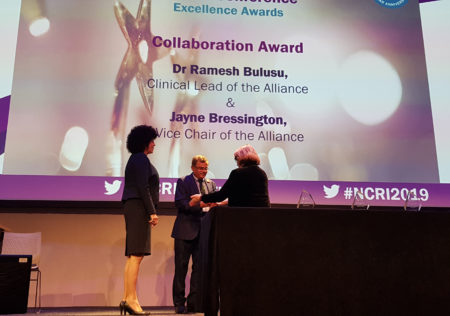Jayne Bressington and Dr. Ramesh Bulusu receive award