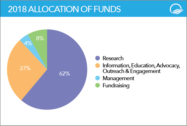 How LRG funds were allocated 2018
