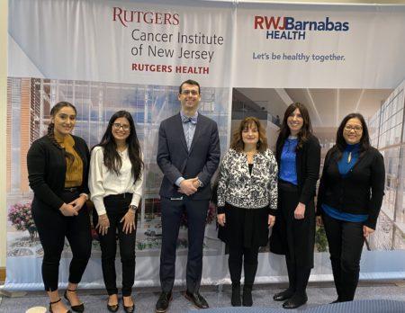 Left to right: Sahibjeet Kaur, Denisse Montoya, Dr. Roman Groisberg, Laura Occhiuzzi, Sara Rothschild, Diana Nieves