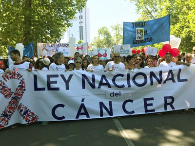 Ley Nacional del Cancer march