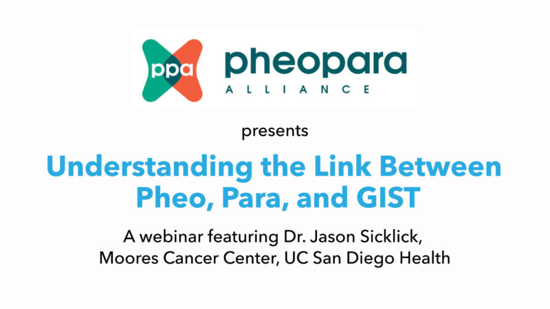 The Pheo Para Alliance Webinar