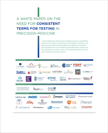 Cancer Terminology White Paper cover