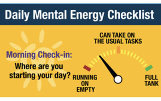 Daily Mental Engery Checklist 4x3