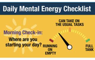 Daily Mental Engery Checklist 4x3