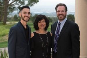 Merak Melikian, Debra Melikian, and Dr. Jason Sicklick