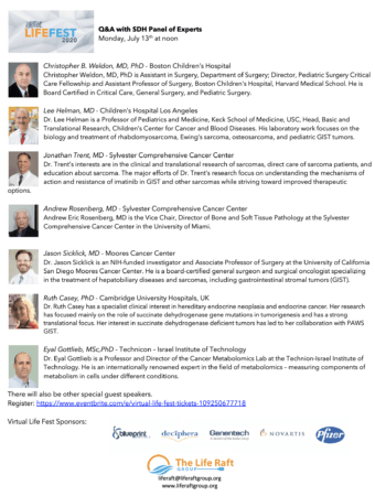 Q&A with SDH Experts Panel Flyer screenshot
