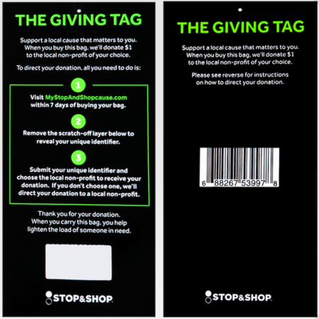 Giving Tag Stop & Shop