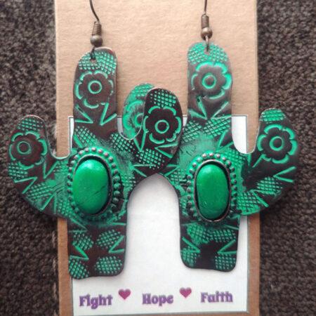 Christine Gonzales green earrings