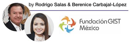 Rodrigo Salas and Berenice Carbajal-López of Fundación GIST México