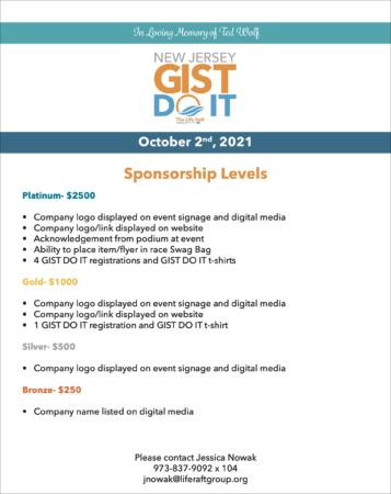 GIST Do It NJ 2021 Sponsorship sheet image
