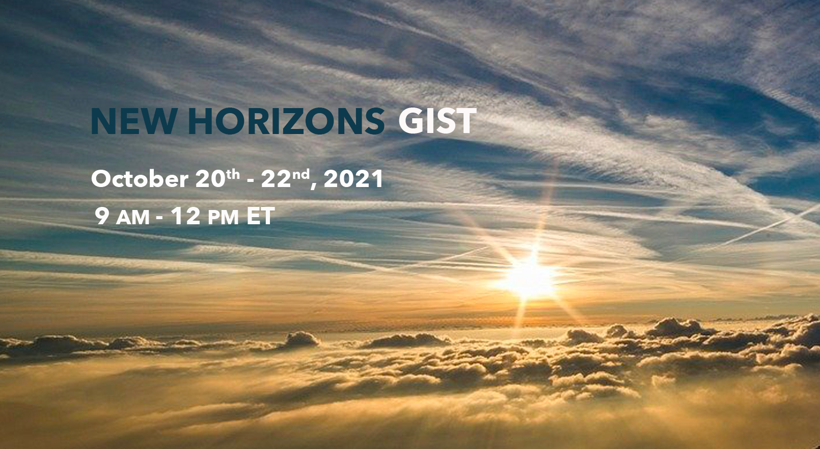 New Horizons 2021 conference