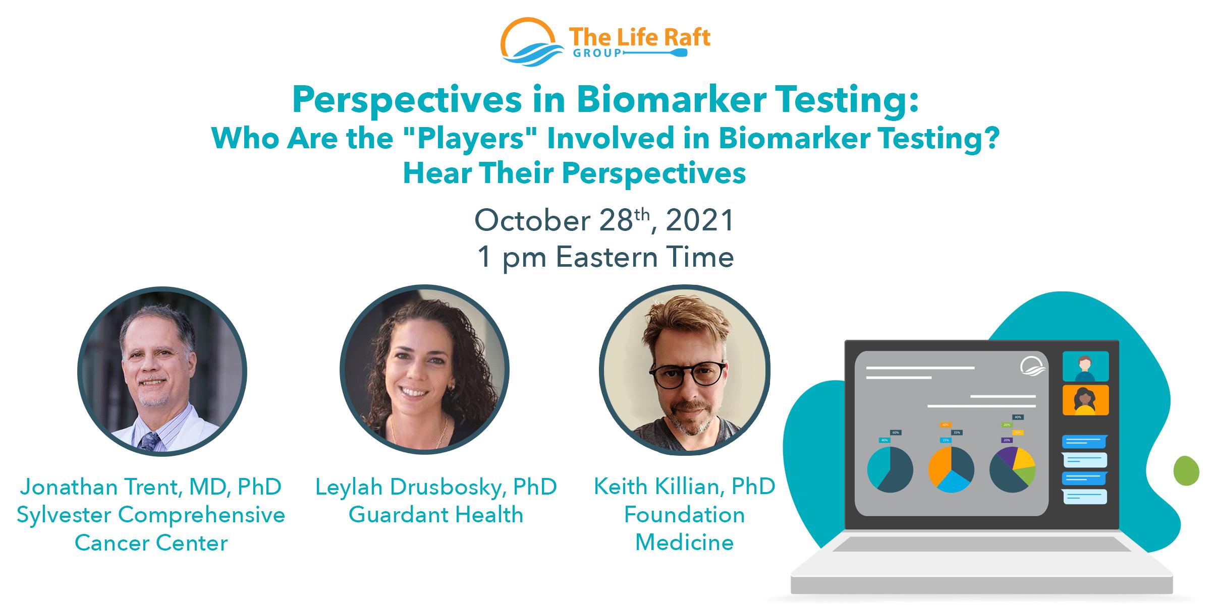 perspectives in biomarker testing webinar banner